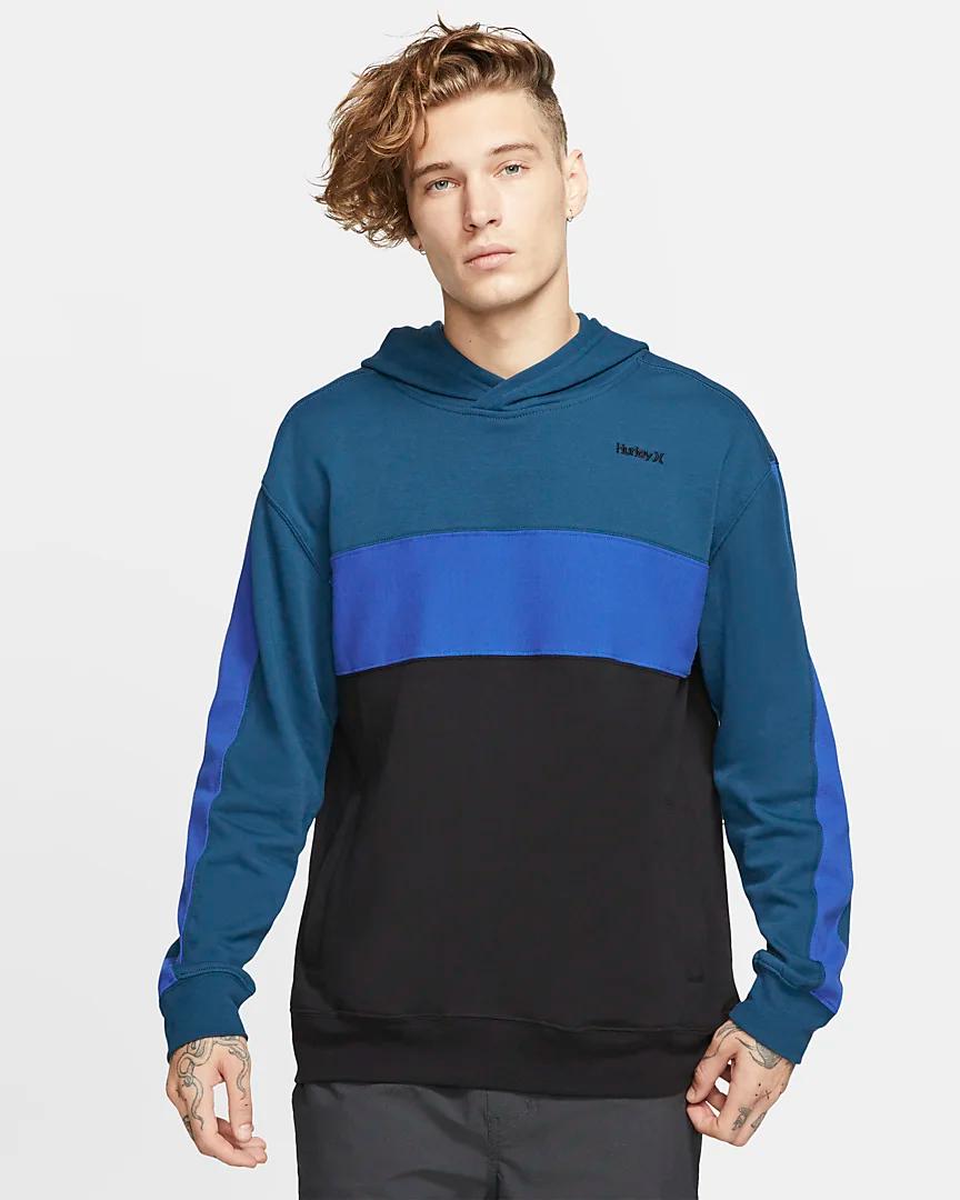 Hurley Blocked Men S Fleece Pullover Hoodie Nike Eg Long Sleeve Tshirt Men Mens Fleece Fleece Pullover [ 1080 x 864 Pixel ]