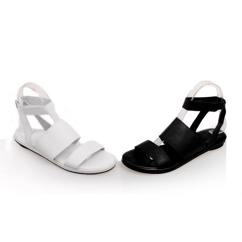 Cute Womens Ladies Flat Heels Shoes Buckle Strap Peep Toe Pumps Us Size Bd2883