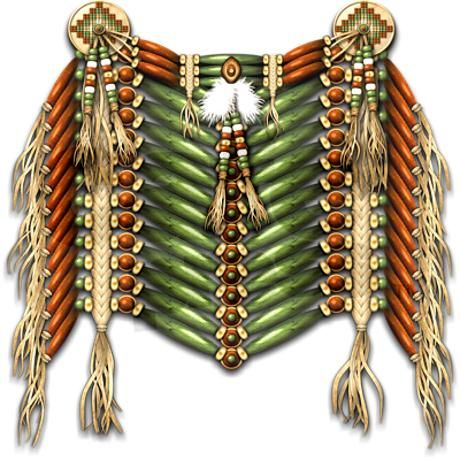 Native american breastplate 3 shower curtain boucliers for Vetements artisanat indien