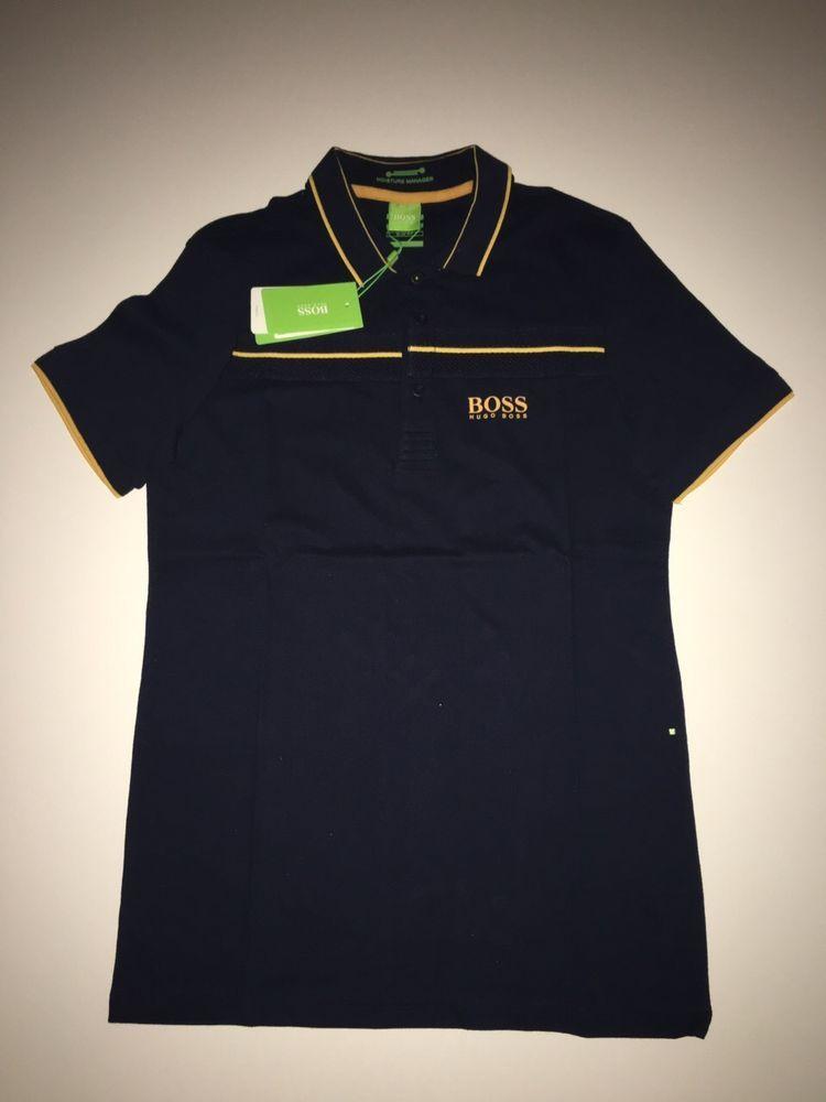 NEW Tags Hugo Boss Slim Fit T-Shirt -Black -Color-Darck Blue