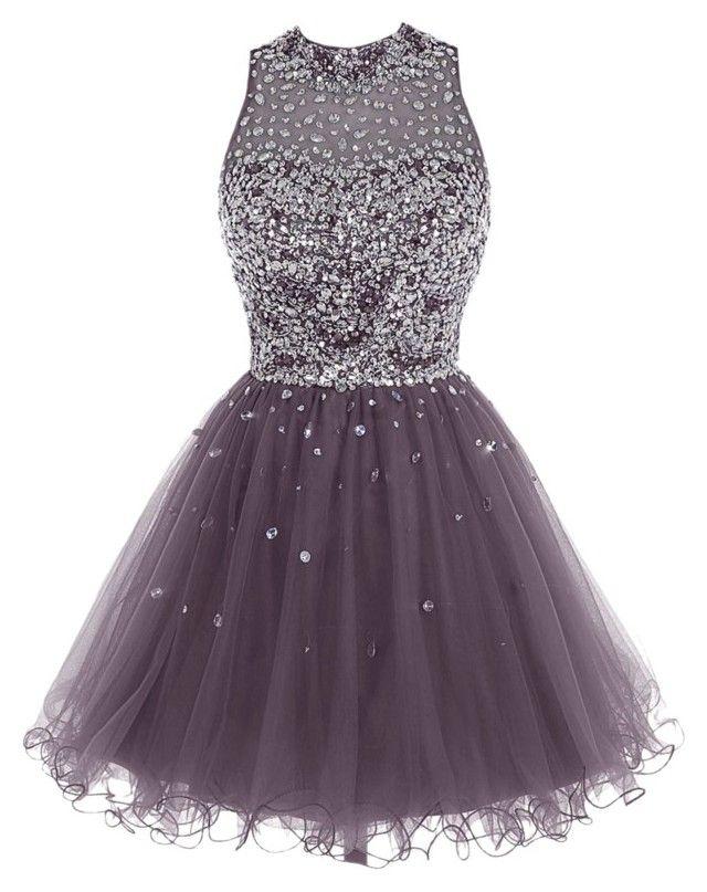Bbonilinedress Short Tulle Beading Homecoming Dress Prom Gown\