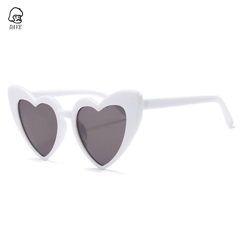 254cdaeadd DAVE Love Heart Sunglasses Women Brand Vintage Cat Eye Christmas Gift Black  Pink Red Heart Shape Eyewear For Female