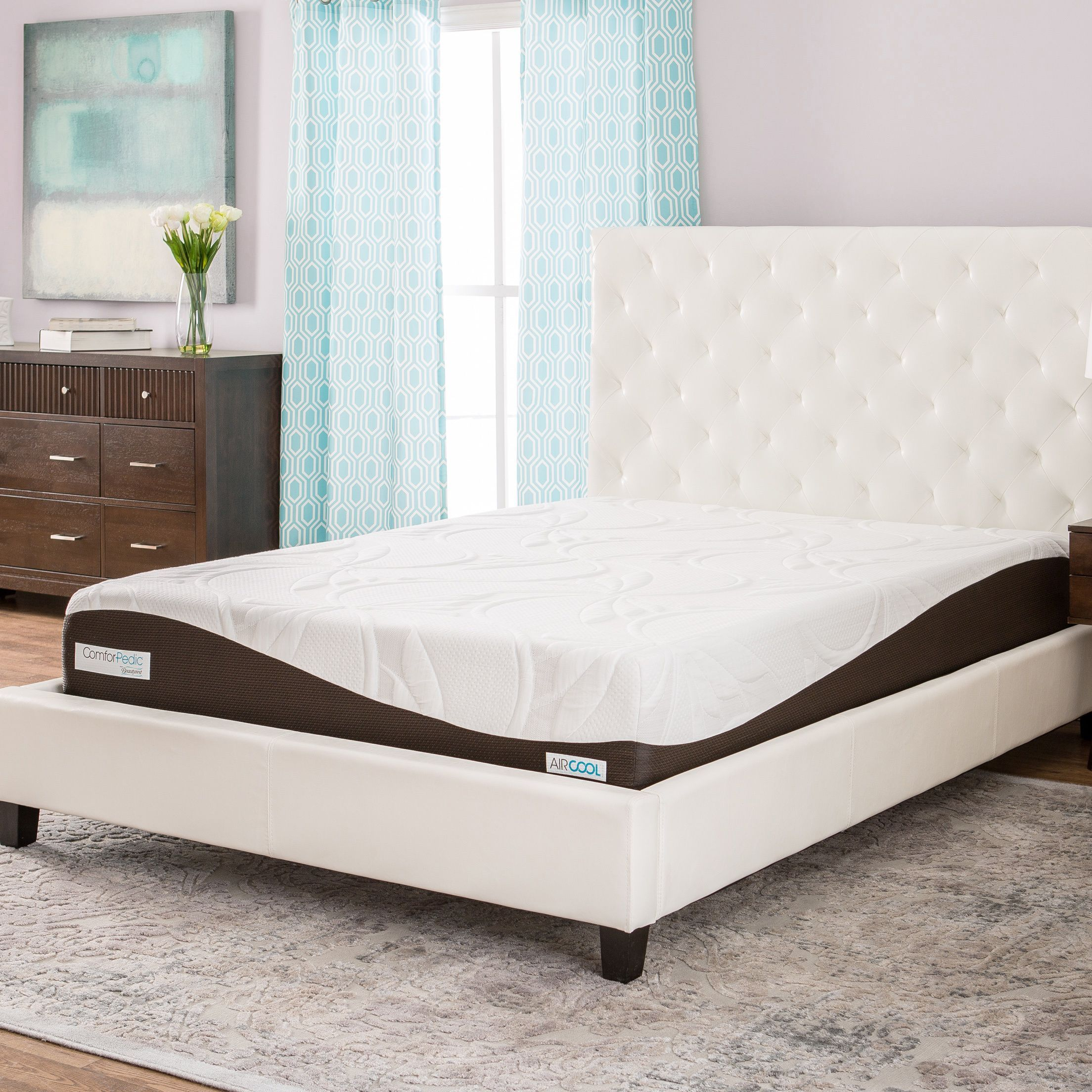 comforpedic from beautyrest 10 inch twin size memory foam mattress