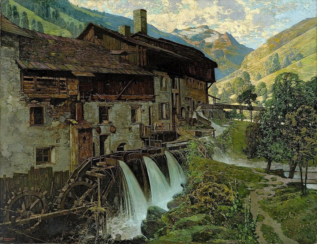 Josef stoitzner mill near mittersil with entrance into