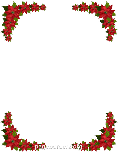 free poinsettia border templates including printable border paper and clip art versions file formats include gif jpg pdf and png