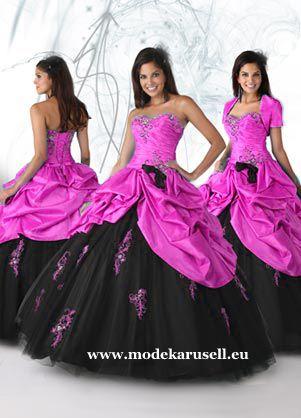 Quinceanera Ballkleid Brautkleid Pink Schwarz www.modekarusell.eu ...