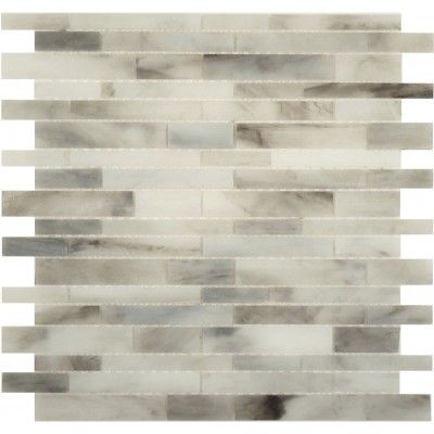 Light Grey Random Bricks Artisan Glass Tile Grey Glass