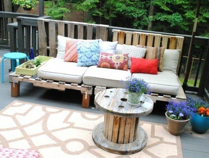 ▷1001+ idées pour fabriquer un banc en palette charmant ...