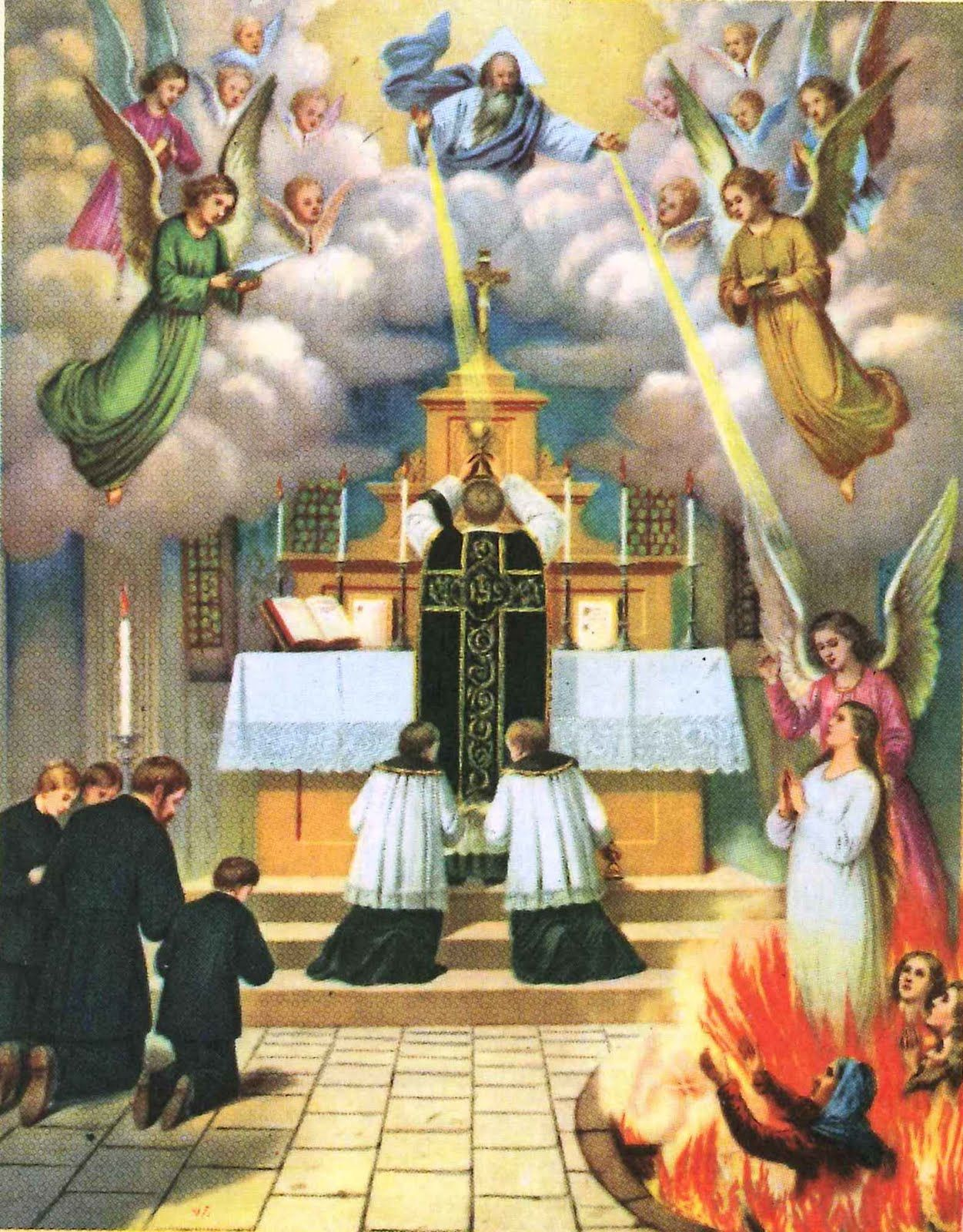 Pray to Our Lady and Offer Masses for the Holy Souls in Purgatory
