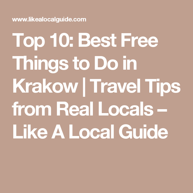 994e8656b4 Top 10  Best Free Things to Do in Krakow