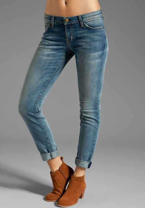 CURRENT/ELLIOTT The Rolled Skinny in Bleecker at Revolve Clothing.
