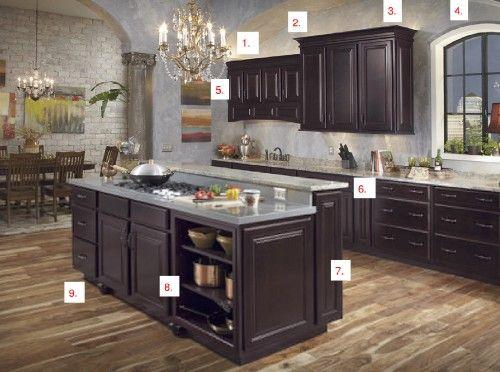 Espresso kitchen cabinets about this maple espresso for Cappuccino color kitchen cabinets