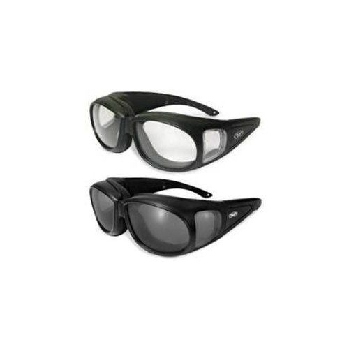 4125d5846bd 2 Motorcycle Safety Sunglasses Fits Over Most Rx Glasses Smoke And Clear  Day   Night Usage Meets Ansi Z87.1 Standards For Safety Glasses Has Soft  Airy Foam ...