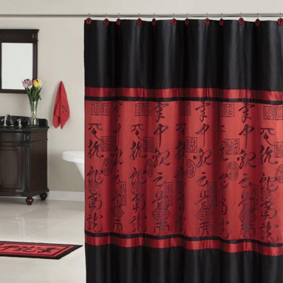 Oriental Shower Curtain Design  Oriental Shower Curtains