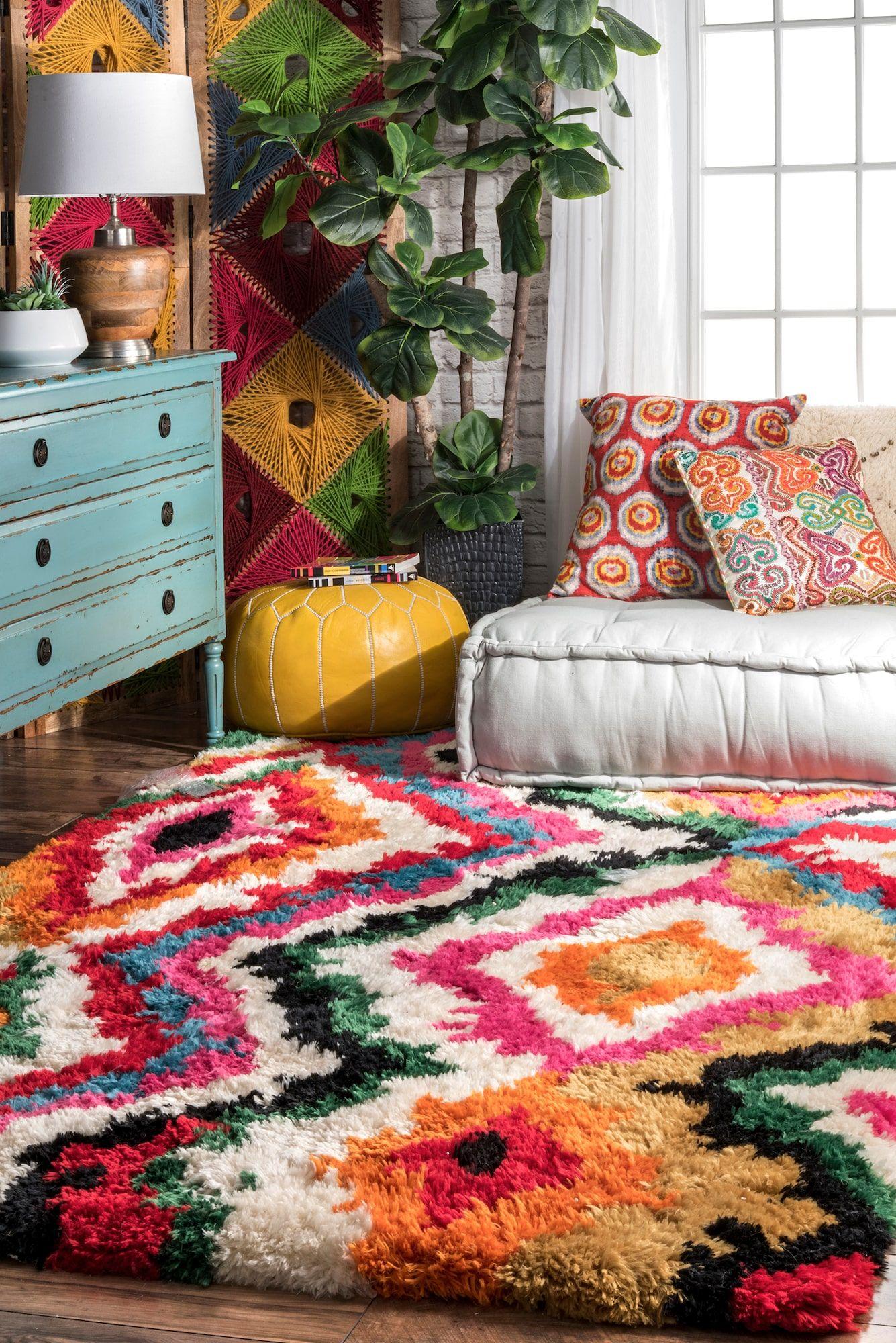 ferris carnival shag rug decor rugs usa bohemian decor on boho chic kitchen rugs id=29877