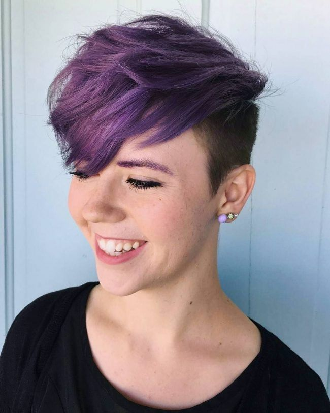 Purple Undercut Pixie Purple Hair Color Pinterest Undercut