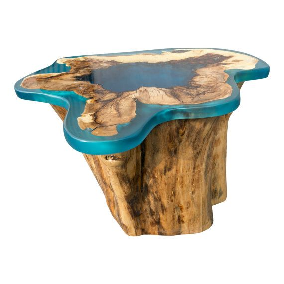 Genial Modern Organic Tree Stump Resin Side Table By Casamedicimodern