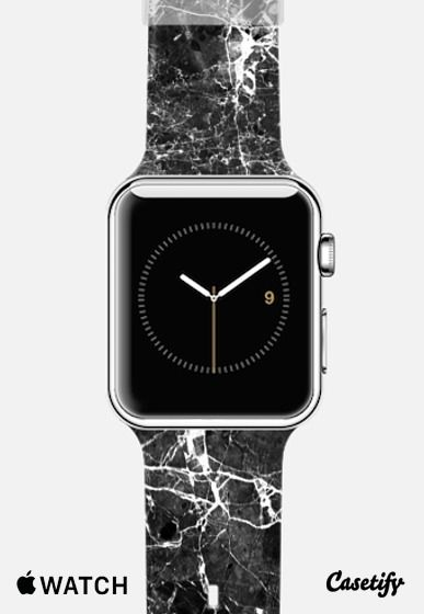 Black White Modern Chic Marble Texture Patterns Apple ...