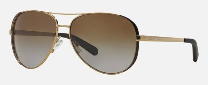 becbad5279277 MICHAEL KORS MK5004 CHELSEA POLARIZED SUNGLASSES 1014T5 Gold Chocolate
