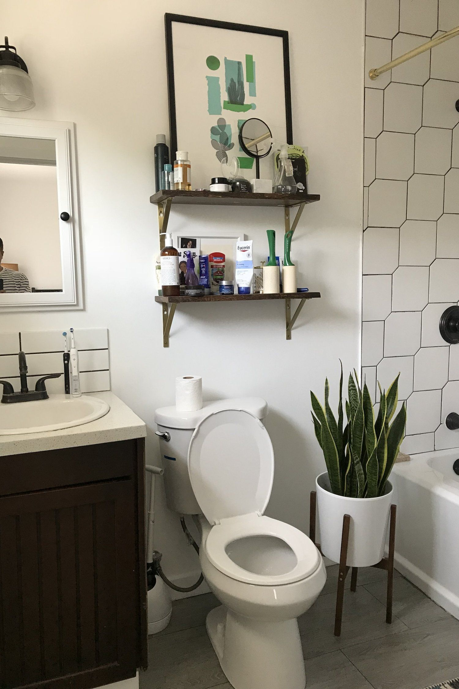 my master bathroom update with delta® part 2 reveal — old