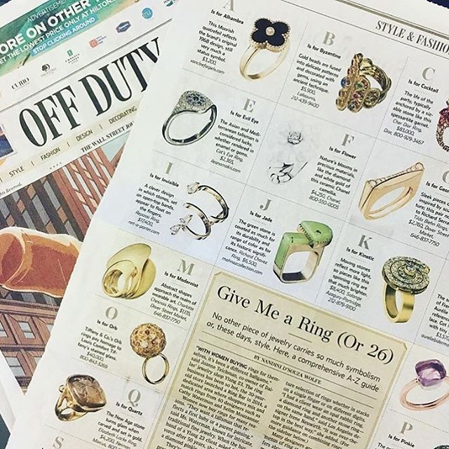 Our Richard Chavez jade ring featured in WSJ Off Duty this weekend