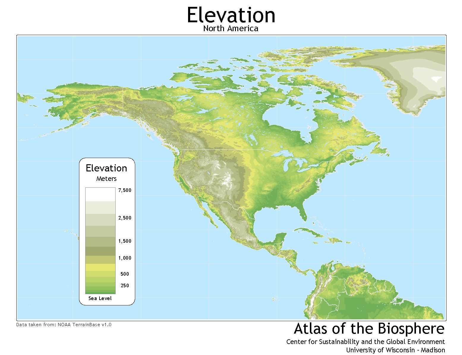 topographical map of north america Google Search North