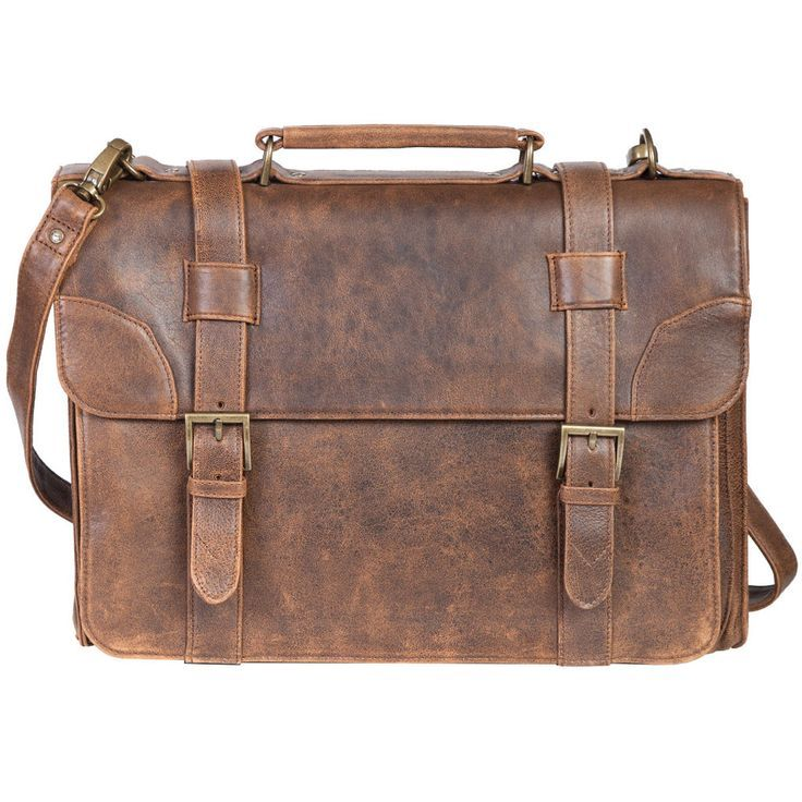e05dadc465 Old-fashioned leather work bag from Oak Roads - Pin now