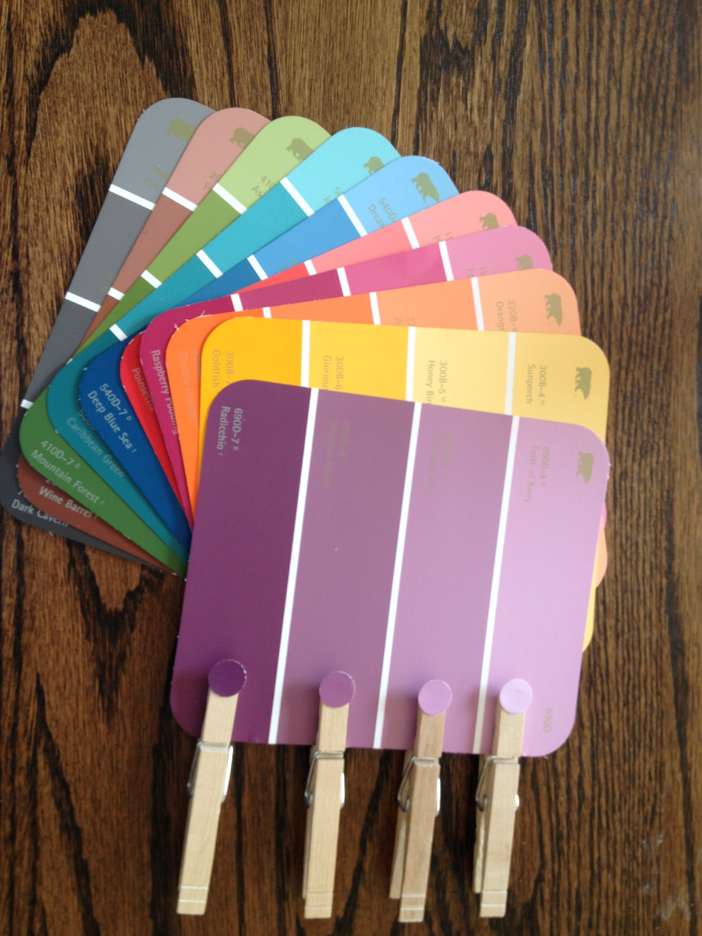 Paint Chip Color Matching Game...great idea for nursing