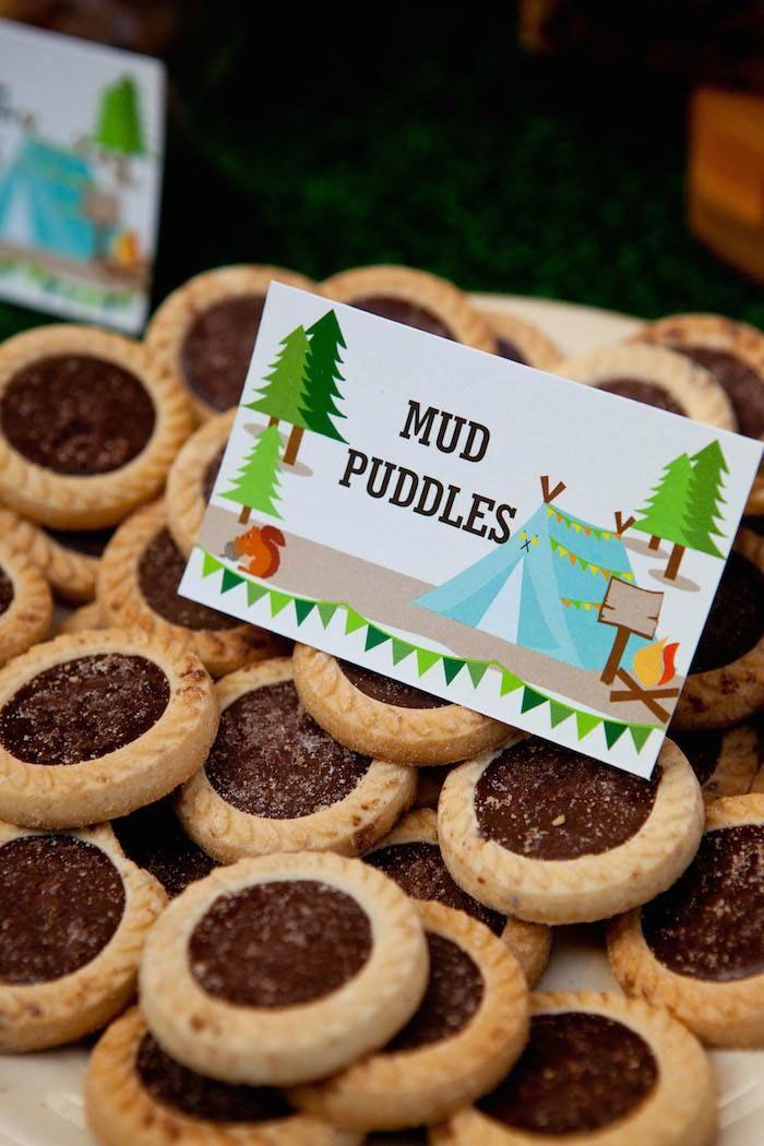 Camping Themed Birthday Party Via Karas Ideas KarasPartyIdeas Printables Cake Decor Desserts Etc Campingparty 10