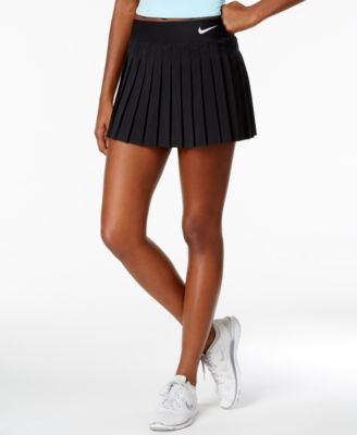 Nike Court Victory Dri Fit Pleated Tennis Skirt In Black White Modesens Tennis Skirt Outfit Womens Tennis Skirts Tennis Skirts