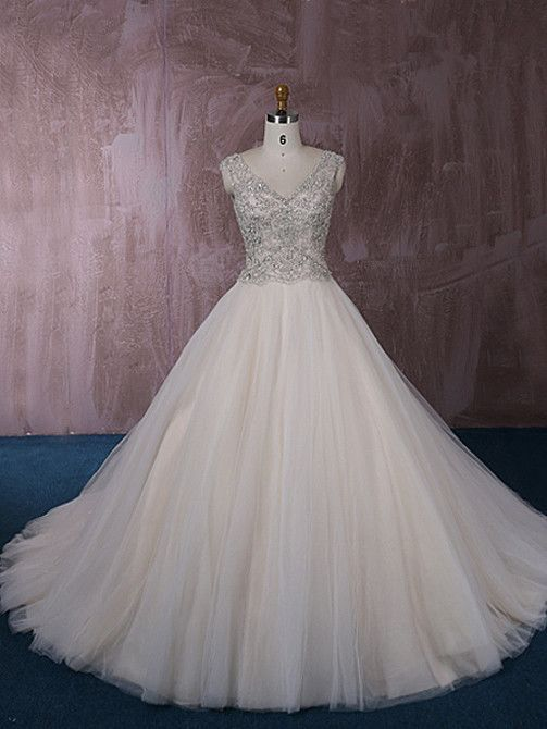 Stunning Tulle Ball Gown Wedding Dress With Jeweled Embroideries Qt815006 Ball Gowns Wedding Ball Gown Wedding Dress Etsy Wedding Dress