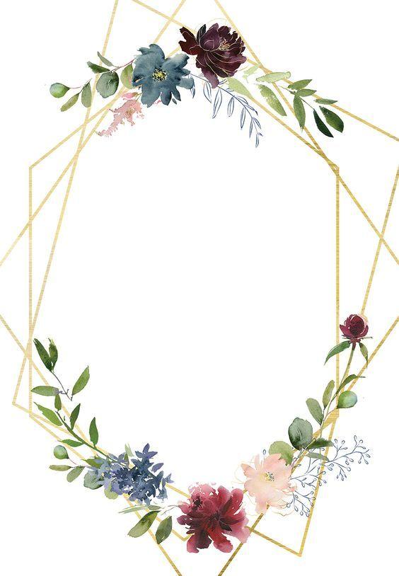 Geometric & Flowers – Invitación De Boda Gratis | Greetings Island