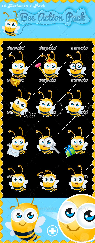 Friendly Bee Mascot