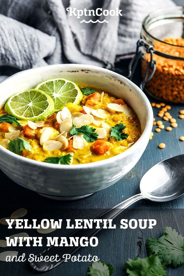 Yellow Lentil Soup With Mango And Sweet Potato