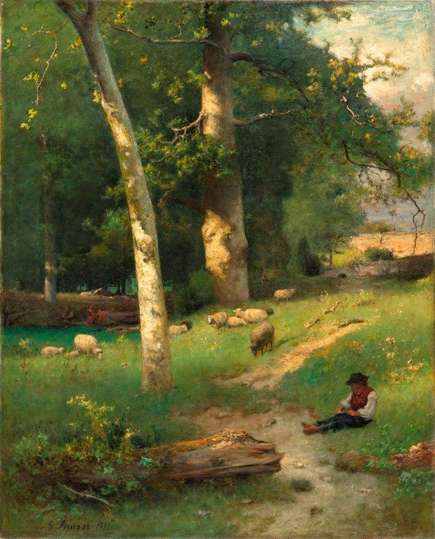 Under the Greenwood, 1881 George Inness (1825-1894)  North Carolina Museum of Art via Hare in Meadow FB