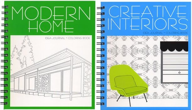 I used to love designing dream homes and rooms when I was little... how fun to color them!