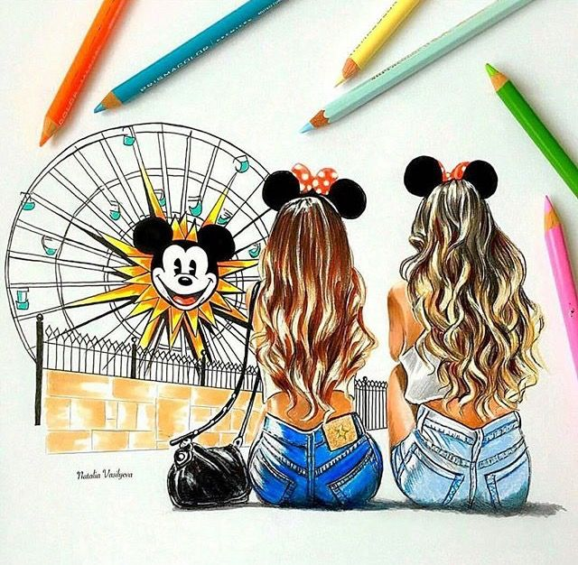 Disneyland Art Best Friend Drawings Drawings Of Friends Bff