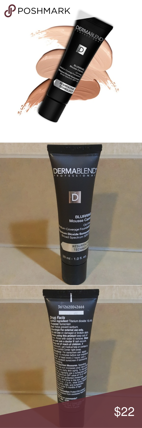 Expired Dermablend Blurring Mousse Camo Mousse, Makeup