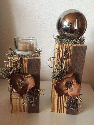 Altholz holz deko herbst natur craft ideas pinterest for Holz dekoration herbst