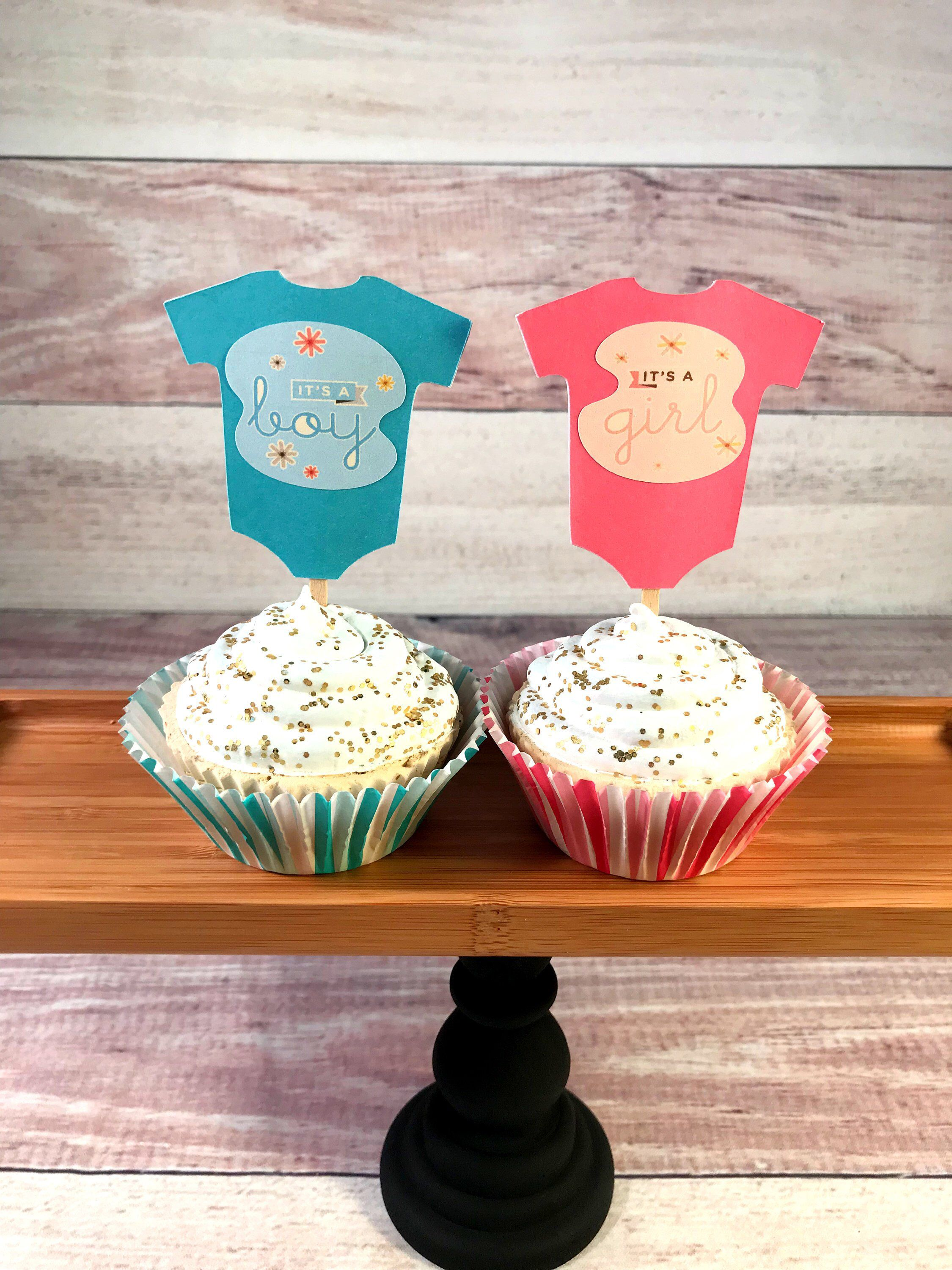 71c4001c08 Baby Shower Cupcake Toppers, Baby Body Suit Cupcake Toppers, Baby One Piece  Cupcake Topperss