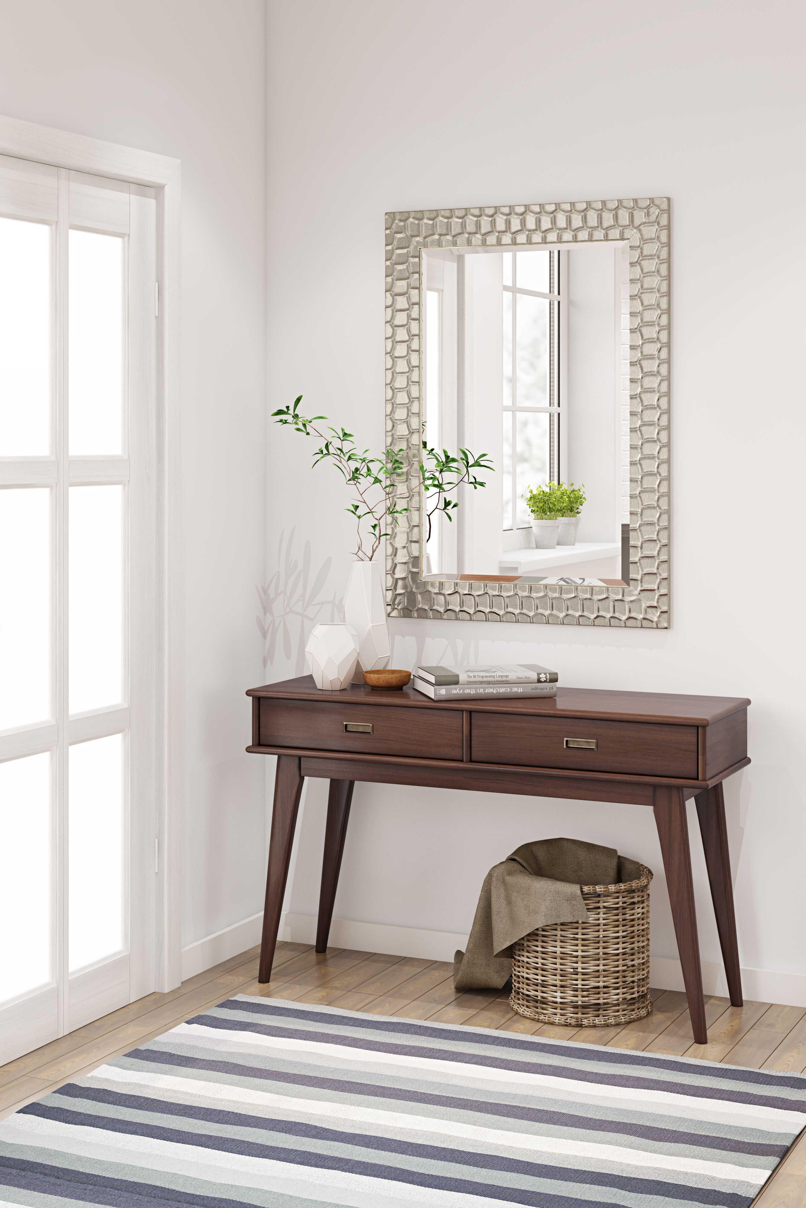 Sinclair Rectangular Decor Mirror | Mid century console ...