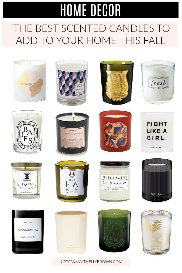 Best Scented Candles for Fall 2018 #scentedcandles