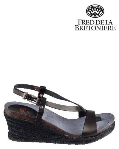 Fred de la Bretoniere Platform sandals - black QZjIHf