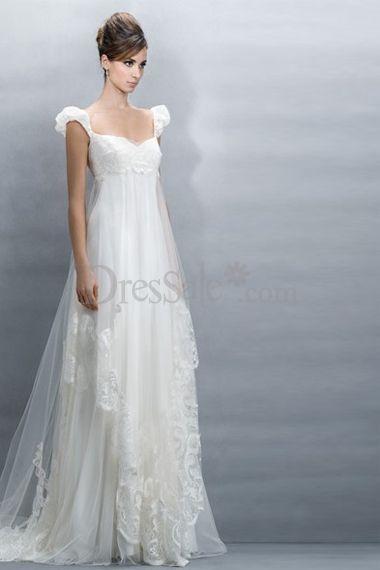 Ravishing Empire Plus Size Maternity Wedding Dresses with Capped ...