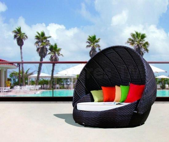 Outdoor Lounge Möbel lounge möbel polyrattan schwarz kissen möbel garten