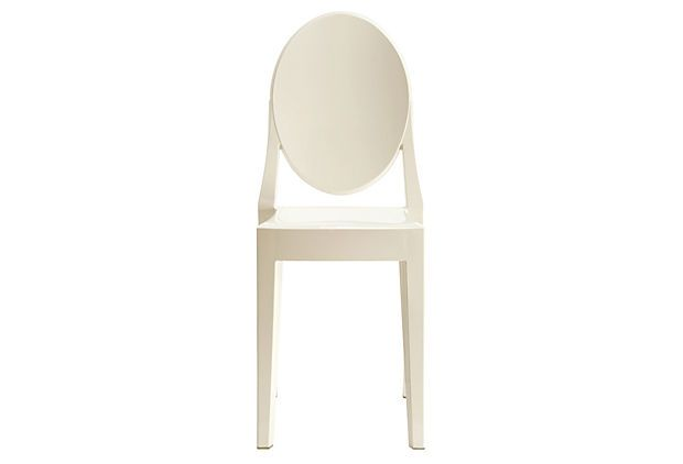 Casper Side Chair, White on OneKingsLane.com