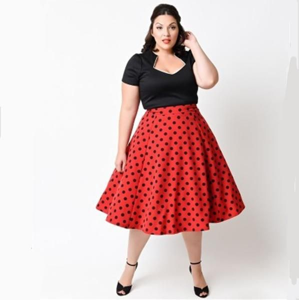 Cheap Pin Up Clothing Pin Up 5Xl Plus Size Women Summer Retro Casual Elegant Party