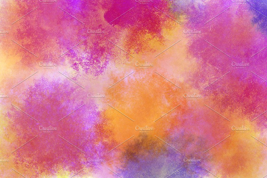 Rainbow Watercolor Wallpaper By Musan On Creativemarket