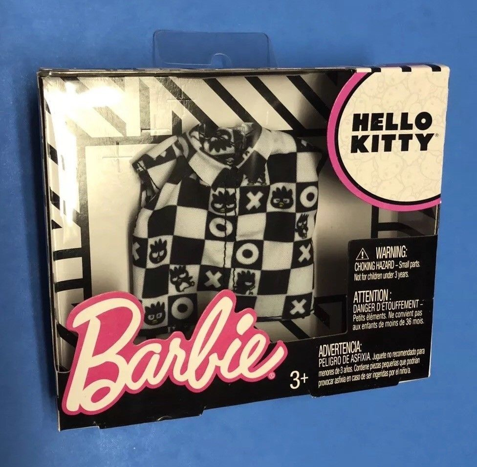 NEW 2018 BARBIE DOLL HELLO KITTY FASHION PACK SEPERATES TOPS