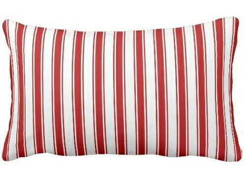 Nautical red striped lumbar pillow. Fresh decor for nautical living ...